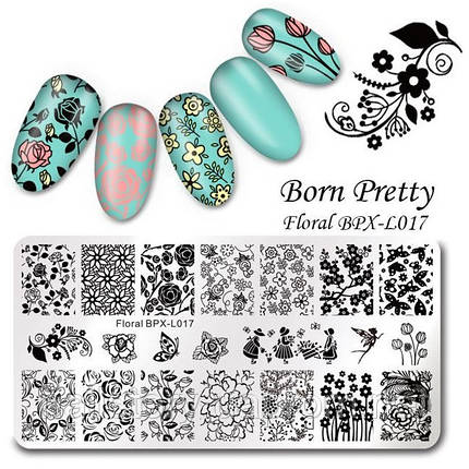 Пластина для стемпинга Born Pretty BPL-X017, фото 2