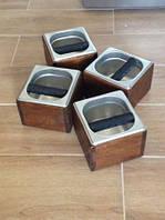 Нок-бокс деревянный c емкостью из нержавеющей стали, 1.6л