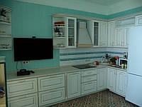 Кухня Авелла МДФ белый с золотом, фото 1
