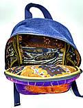 Джинсовый рюкзак Утренний заец, фото 5