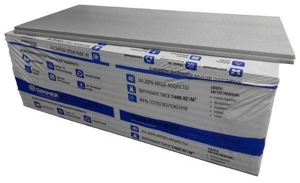 Екструдований пінополістирол SYMMER XPS Extra 1200*550*50мм