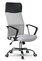 Офисное кресло с микросетки SOFOTEL SYDNEY Серое В НАЛИЧИИ