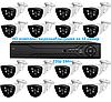 HD комплект видеонаблюдения на 16 камер 720р 1Мп.