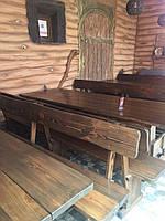 Мебель деревянная для площадки под мангал на даче