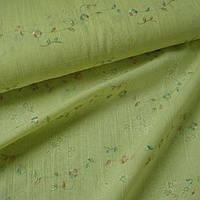 162858387 - Батист деворе бледно желтый с разноцв вышивкой ш.140