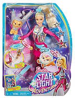 Барбі оригінал  Barbie Star Light Galaxy Barbie Doll & Flying Cat, фото 1