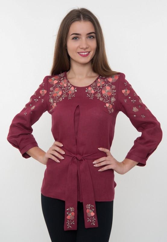 Вишита блузка з квітами (вишиванка) - Мир одежды вместе с Biserova в  Хмельницком 6ee4ce226d3ac