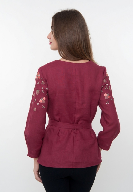 Вишита блузка з квітами (вишиванка)  продажа 5c536adad19db
