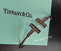 Браслет-бангл Tiffany с камнями (роз.золото)