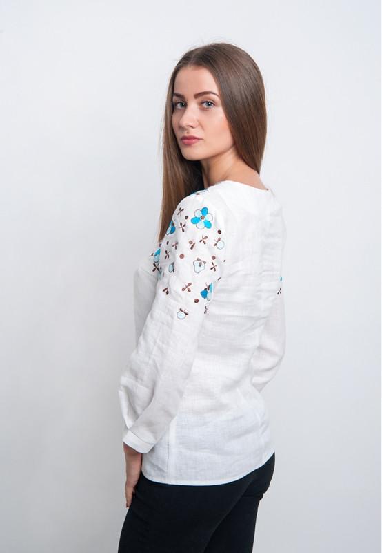 Вишита блузка з квітами (вишиванка)   продажа 514cc17115b0e