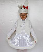 Детский карнавальный новогодний карнавальный костюм Зайчик Зайка №1