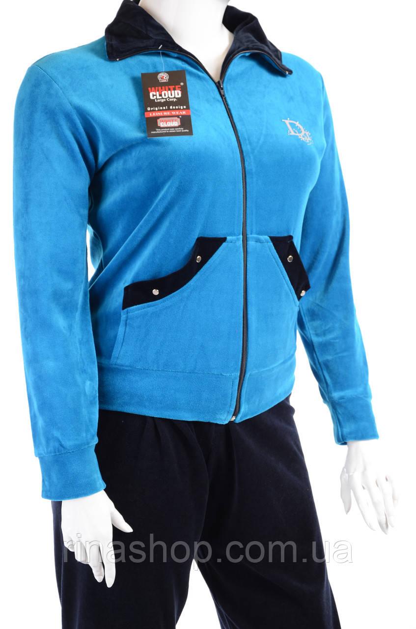 Велюровый женский спортивный костюм K116