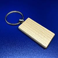 Брелок деревянный прямоугольный для гравировки. 30х55мм