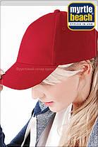 Классическая пятипанельная кепка хлопок MB092, фото 3