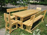 Деревянная мебель для беседок и мангалов в Староконстантинове
