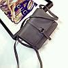 Женская маленькая сумочка серая на плече