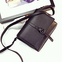 Женская мини сумочка черная на молнии опт