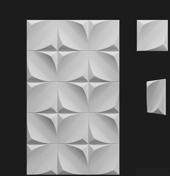 "Пластиковая форма для 3d панелей ""Фрейле"" 20*20 x4 (форма для 3д панелей из абс пластика)"