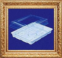 Большая квадратная  330*240 мм. одноразовая упаковка пластиковая для тортов,пирожных,печенья Р-43