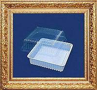 Одноразовая пластиковая тара квадратная для пирожных,печенья,тортиков универсальная плотная
