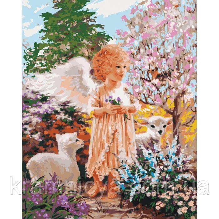 Картины по номерам Ангел в лесу (КНО2305)