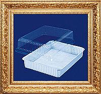 Пластиковая упаковка квадратная для тортов,рулетов,кондитерских изделий блистерная