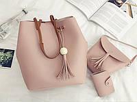 Женские сумки розовый набор 1 опт