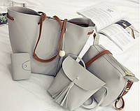 Женская сумка 3в1 серый опт