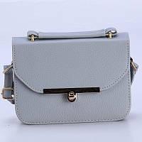 Женская сумочка маленькая на плечо серая 515 опт, фото 1
