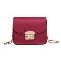 Женская сумочка мини на цепочке бордовая 875 опт, фото 1
