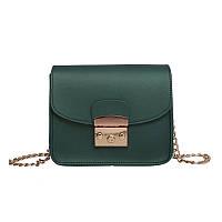 Женская сумочка на цепочке зеленая 835 опт, фото 1