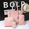 Набор женских сумок цвет розовый 1520 опт