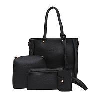 Женские сумки в наборе цвет черный опт, фото 1