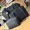 Женская сумка, маленькая сумочка и кошелек набор черный опт