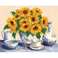 Картины по номерам Букет подсолнухов, 40х50 (КНО5519)
