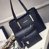 Женская сумка набор 3в1 + мини сумочка и клатч черный опт