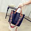 Женская сумка большая + маленькая сумочка набор черный опт