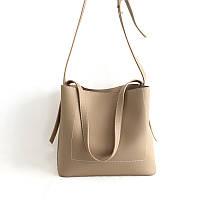 Женская сумка через плече бежевый опт, фото 1