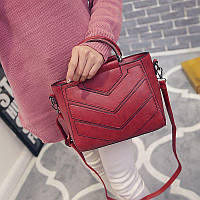 Женская сумка с ручками и ремешком красная опт, фото 1