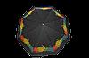 Зонтик женский черный полуавтомат (4831)