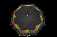 Зонтик женский черный полуавтомат (4831), фото 1