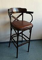 Кресло барное деревянное Н=800 мм