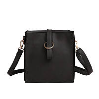 Женская сумочка через плече черная