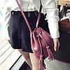 Женская сумочка мешочек маленькая бордовая опт