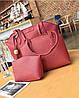 Женская сумка, маленькая сумочка и кошелек набор красный опт