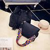 Женская сумка + маленькая сумочка набор черный опт