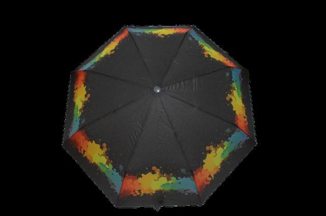 Зонтик женский черный полуавтомат (4831) фото 1