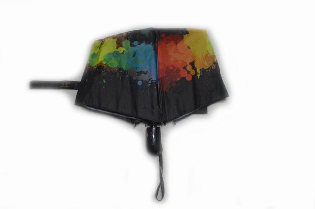 Зонтик женский черный полуавтомат (4831) фото 2