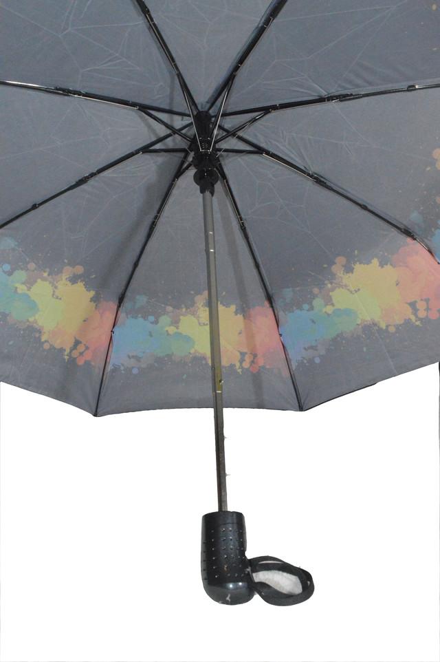 Зонтик женский черный полуавтомат (4831) фото 3
