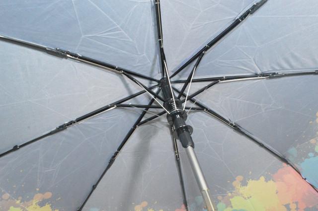Зонтик женский черный полуавтомат (4831) фото 4